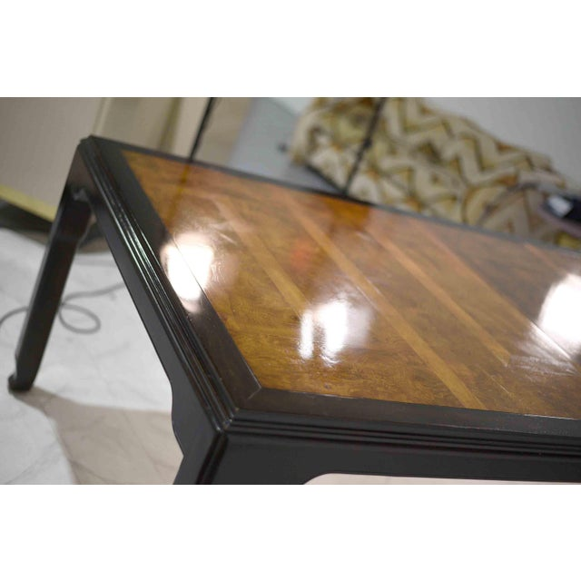 1970s Chinoiserie Burlwood Dining Table by Century Furniture For Sale In Chicago - Image 6 of 12