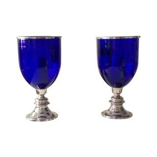 Glass Hurricane Lanterns - a Pair