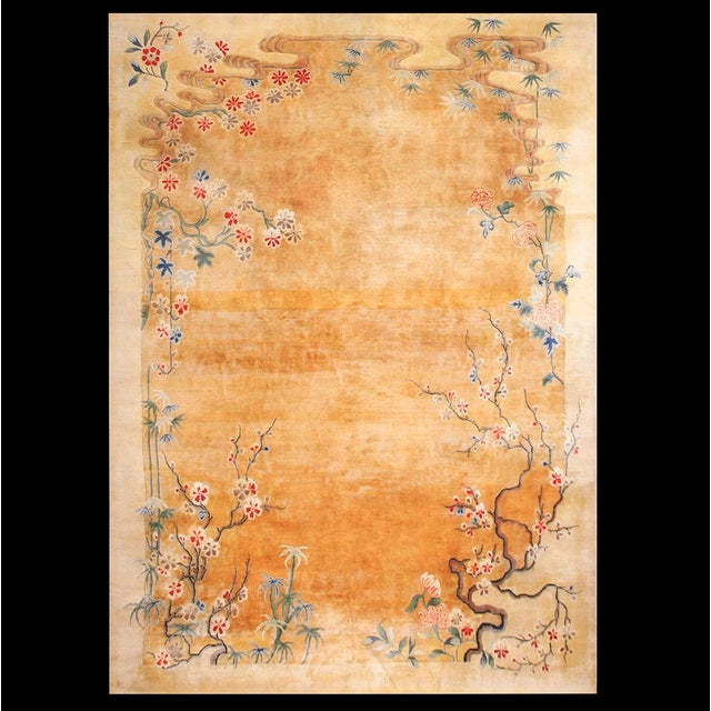 Beige Antique Chinese Art Deco Rug For Sale - Image 8 of 8
