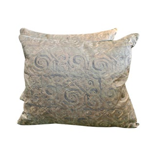 "Fortuny""Maori"" Pillows - Pair For Sale"