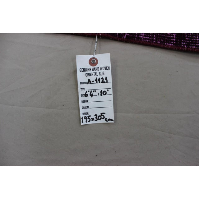 """6'4"""" X 10' Turkish Pink Overdyed Rug For Sale - Image 10 of 10"""