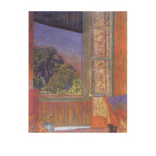 "Pierre Bonnard La Fenetre Ouverte 35.5"" X 27.5"" Poster 1989 Modernism Orange, Purple Window For Sale"