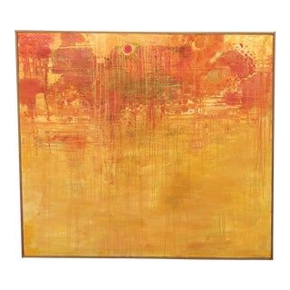 1969 Margit Israel Abstract Oil Painting For Sale