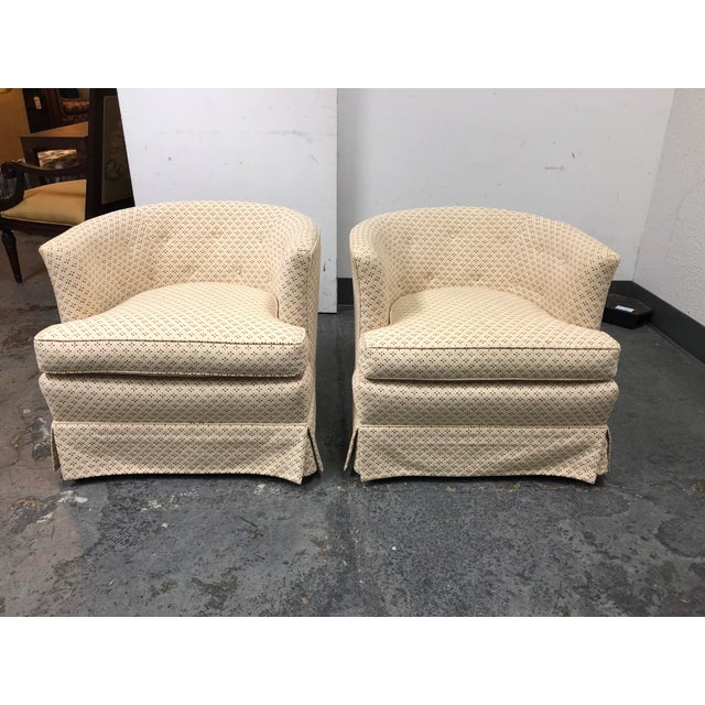 Henredon 1960's Roller Club Barrel Chairs - a Pair For Sale - Image 11 of 11