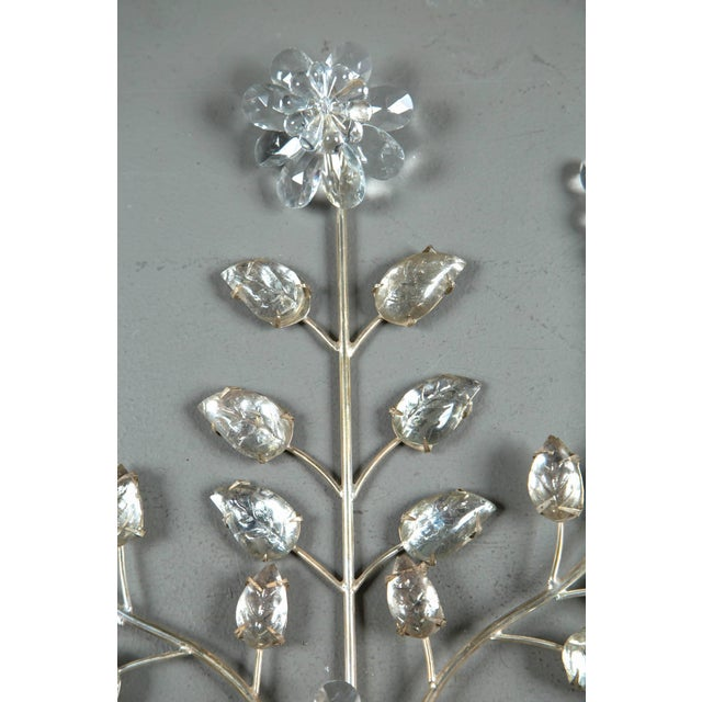 1930s French Silver Plated Sconces - a Pair For Sale - Image 4 of 8