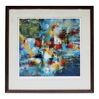 """""""Jerusalem"""" by Leonardo Nierman Color Lithograph For Sale"""