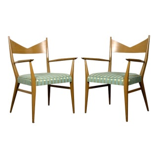 1950s Vintage Paul McCobb for Directional Armchairs- A Pair For Sale