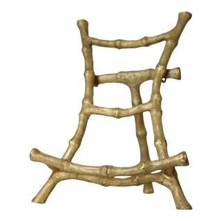 Gold Faux Bamboo Miniature Easel For Sale