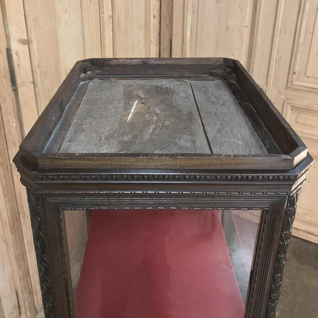 19th Century French Louis X Collector's Vitrine For Sale - Image 9 of 13