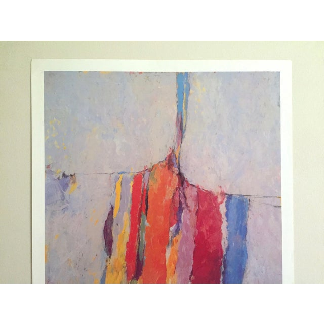 This Arthur Osver rare vintage 1985 Abstract Expressionist lithograph print St. Louis Arts Festival exhibition poster is a...