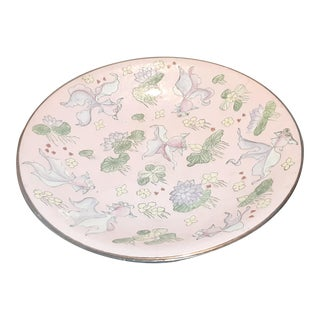 1970s Vintage Asian Style Baby Pink Bowl For Sale