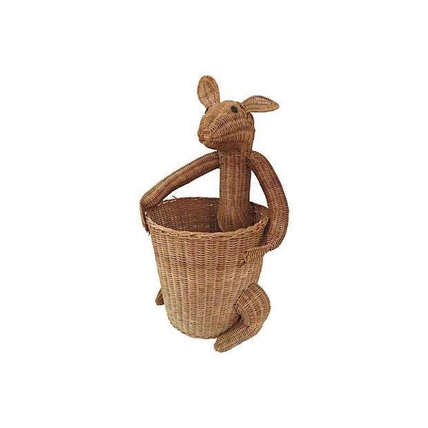 Vintage Rattan Kangaroo Basket - Image 7 of 8