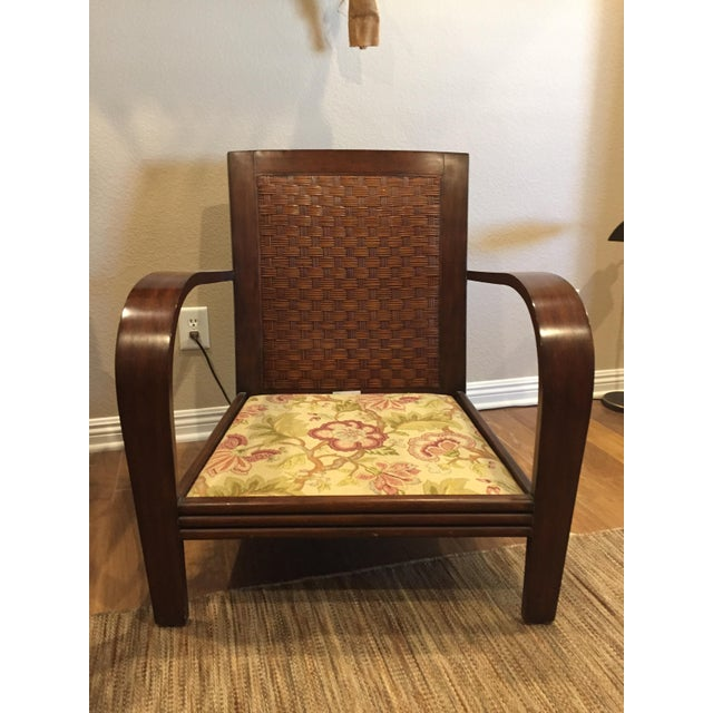 Ethan Allen Jamaica Arm Chairs - a Pair For Sale - Image 6 of 11