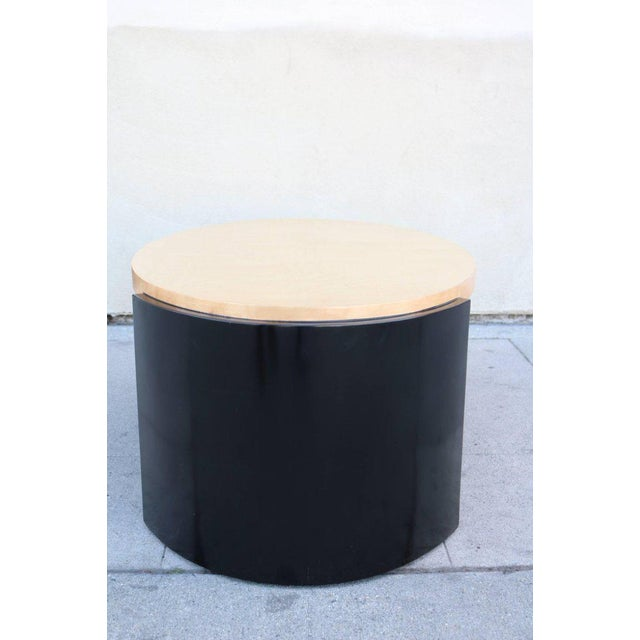 Maple and Black Lacquer Coffee Table in the Style of Karl Springer - Image 4 of 7