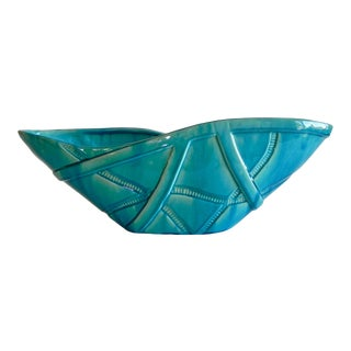 Global Views Aqua Strapped Bowl For Sale