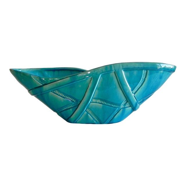 Global Views Aqua Strapped Bowl For Sale