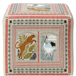 Cube Ottoman in Fauna Multi Preview