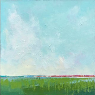 "Carrie Megan ""Summer Essence"" Contemporary Abstract Oil Painting For Sale"