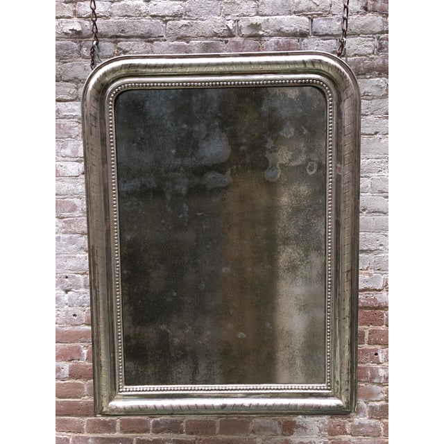 19th Century Silver Leaf Gilded Mirror For Sale - Image 6 of 7