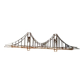 Suspension Bridge Coffee Table or Wall Rack For Sale