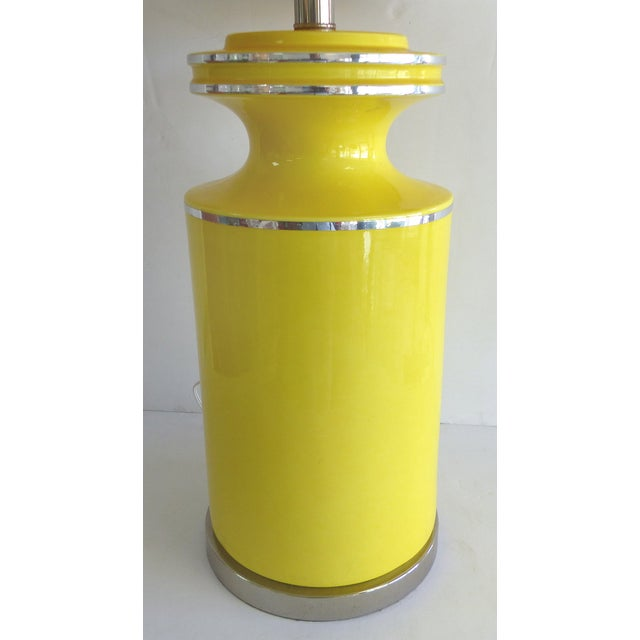 Pierre Cardin Style Glass Table Lamp - Image 3 of 7