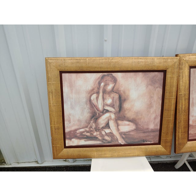 2 beautiful prints of ladies. This will make beautiful pictures for any decorating style in any room.