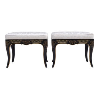 Chinoiserie Benches by Drexel Heritage, Pair For Sale