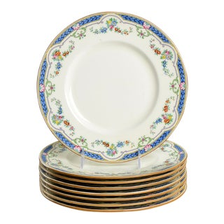 Minton Ripon Blue Dinner Plate - Set of 8 For Sale