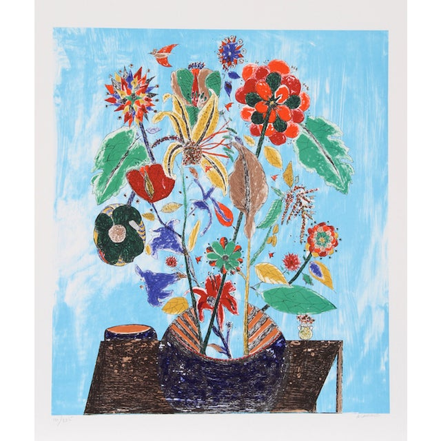 "Ovadia Alkara, ""Bouquet,"" Lithograph For Sale"