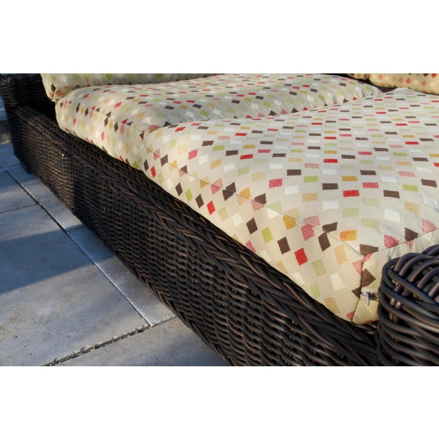 Summer Classics- Rustic Woven Chaise Lounge and Cushion For Sale - Image 12 of 13