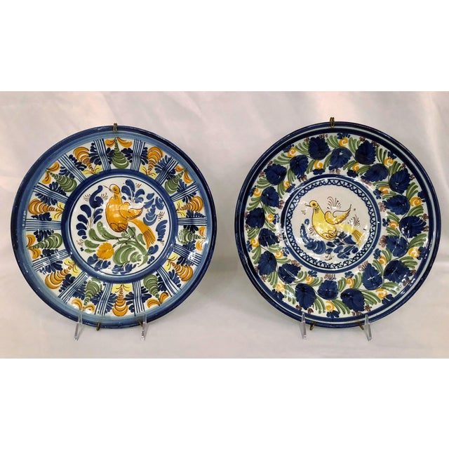 Pair Antique French Faience Chargers, Circa 1890-1910. For Sale - Image 4 of 4