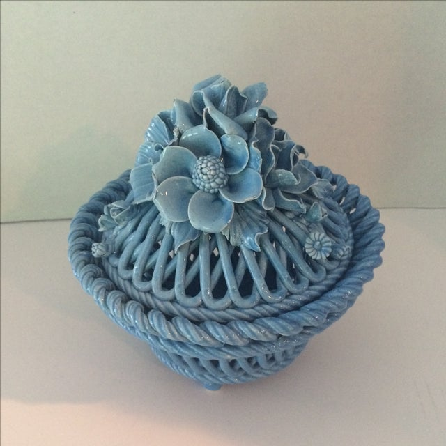 Blue Italian Potpourri Covered Dish - Image 2 of 9
