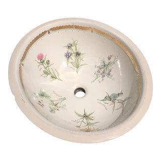 Vintage Kohler Flowers Design Drop in Sink
