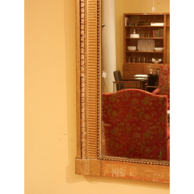 19th Century Louis XVI Gold Gilt Mirror For Sale - Image 4 of 8