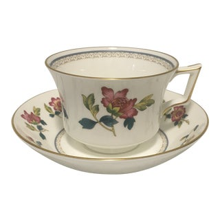 Vintage Wedgewood Chinese Flowers Cup & Saucer Set For Sale