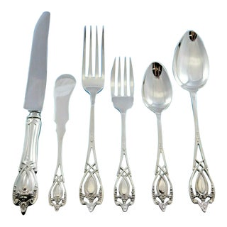 Monticello by Lunt Sterling Silver Flatware Set for 8 Service 52 Pieces For Sale