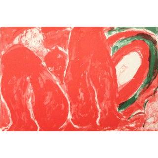 1988 Edouard Pignon Original Lithograph N6-1d, Noise For Sale