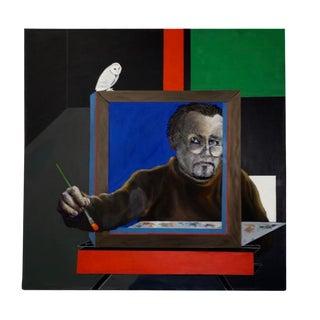 2008 George Dergalis Self Portrait Oil Painting For Sale