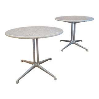 1960s Mid-Century Modern Alexander Girard for Herman Miller Marble Side Tables - a Pair For Sale