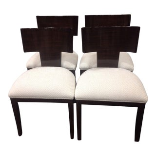 Modern Dining Chairs With Zembrano Finish - Set of 4 For Sale