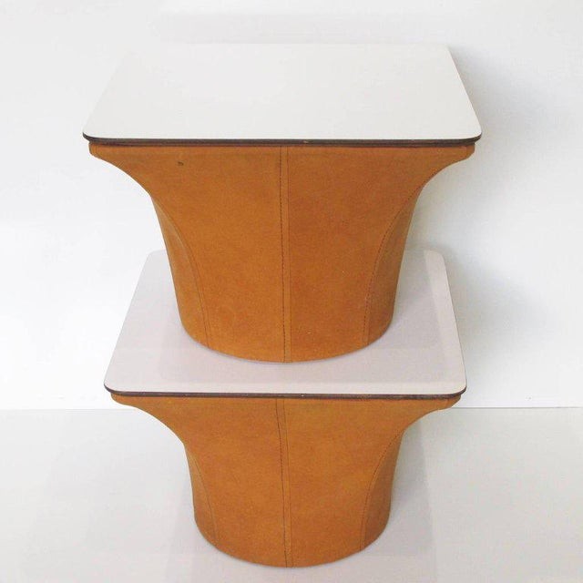 Pierre Paulin Style Mid-Century Modern Mushroom Side Tables - a Pair For Sale - Image 4 of 11
