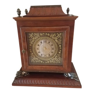 Vintage Bombay Company Cherry Wood Quartz Mantle Clock For Sale