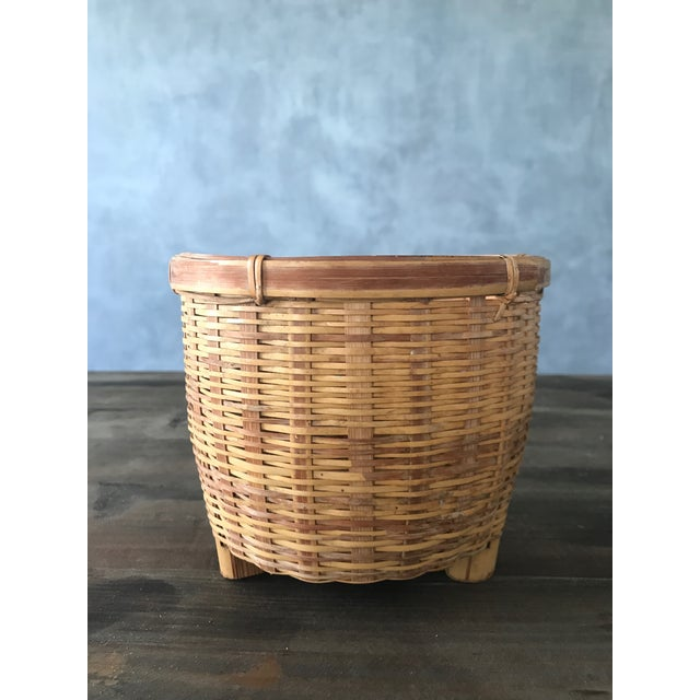 Jungalow Style Small Rattan Basket - Image 2 of 6