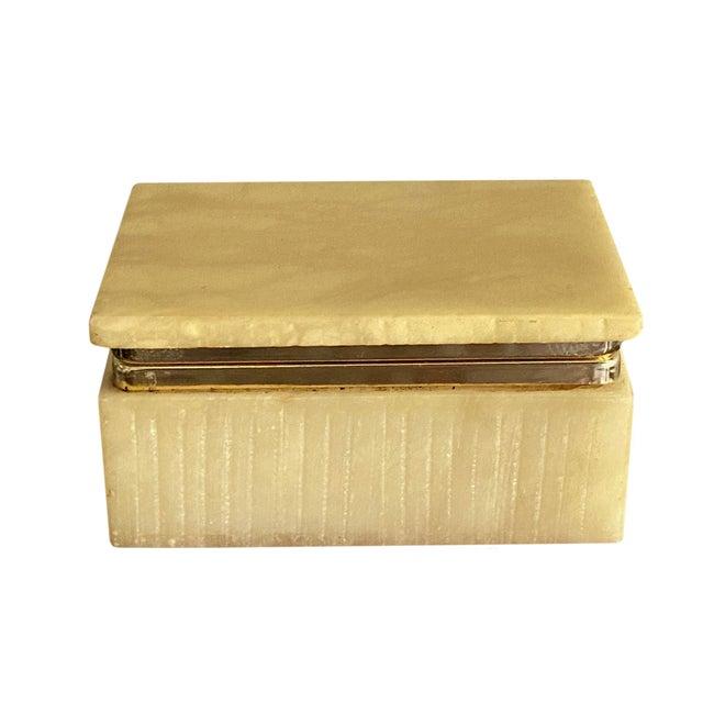 Stone Art Deco Italian Alabaster Box For Sale - Image 7 of 7