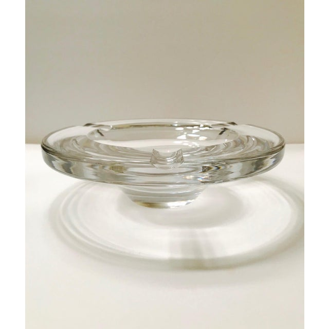 Swedish Mid-Century Modern Crystal Ashtray by Lindstrand for Kosta Boda, 1960's For Sale - Image 13 of 13