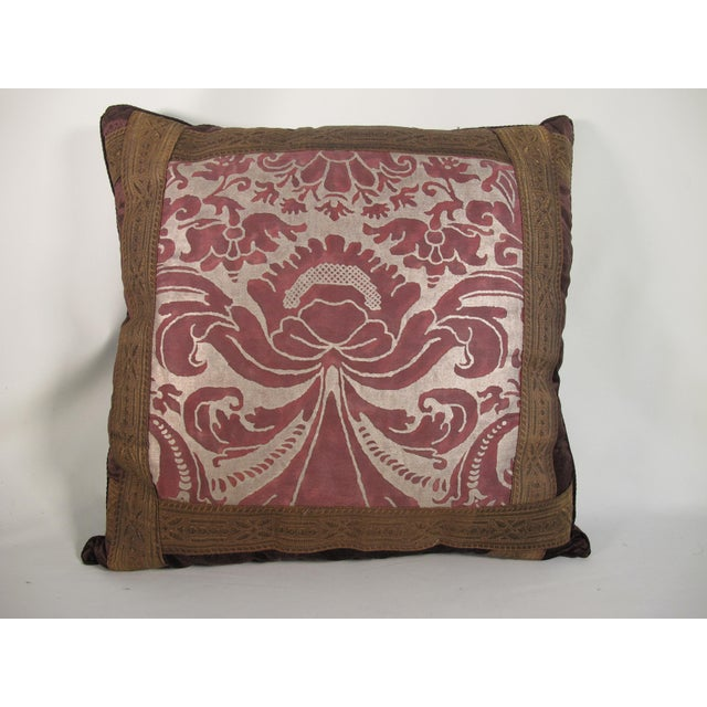 2010s Renaissance Style Fortuny Pillow For Sale - Image 5 of 5