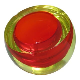 C.1970s Mandruzzato Italian Murano Modernist Accent Bowl, Ashtray For Sale
