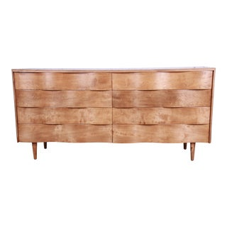 Edmond Spence Wave Front Long Dresser or Credenza For Sale