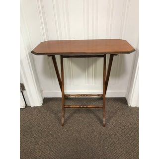 Traditional Light Cherry Wood Folding Table Preview