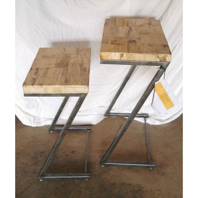 Bernhardt Petrified Wood Nesting Tables - A Pair - Image 2 of 9